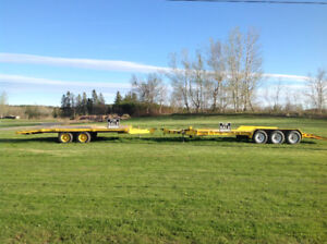 Equipment trailer 14,000 lbs float electric brakes heavy duty