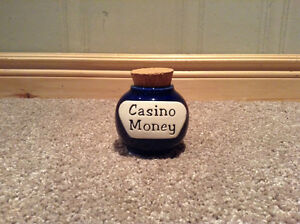 "Ceramic glass savings jar  with ""Casino Money"" on front Kitchener / Waterloo Kitchener Area image 1"