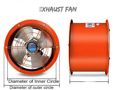 220v 16inch Explosion-proof Axial Fan Cylinder Pipe Fan 370w 5400m3h Tool
