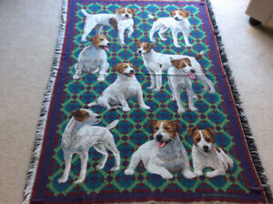 JACK RUSSEL Blanket Throw by Goodwin Weavers - excellent cnd