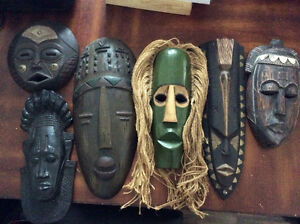 Beautiful set of African, Indonesian and Chinese Masks