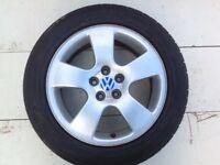 """16"""" VW ALLOY WHEELS ALLOYS TYRES WHEELS RIMS PCD 5X112 FITMENT"""