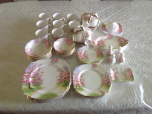 Dishes - Bone China - Blossom Time - 8 place setting with extras