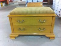 HFH ReStore North Entrance Way Bench with Drawers