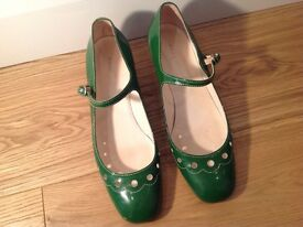 Marc Jacobs Green patent leather Mary Jane shoes