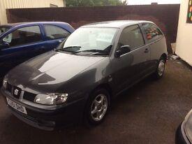 2001 Seat Ibiza 1.4 Chill-72000-1 owner-October 16 mot-good value