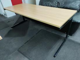 Large oak effect office desk