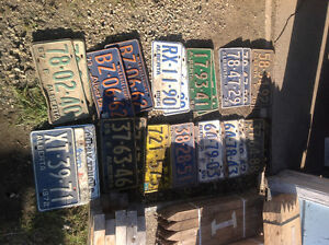 antique license plates