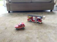 Playmobil fire engine 4820 and fire car 4822