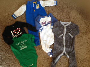 3-6 month outfits- 2 hardly worn and others brand new lot