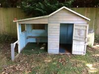 Wooden double playhouse