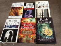6 RUTH RENDELL BOOKS, ONE SIGNED BY AUTHOR, ALL FIRST EDITIONS.