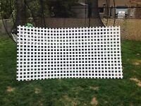 White vinyl lattice