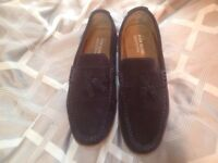 Lovely 100% suede loafers size 11 worn about 4 times