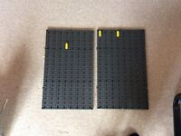 Pair Of plastic pegboards display or workshop