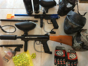 2 Paintball marker package BT-4 Combat, Spyder Pilot + 3 Masks