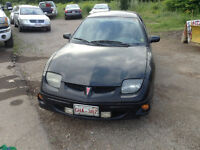 2001 Pontiac Sunfire Se Sedan 2.4 twin cam runs great needs mvi