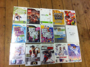 wii games $10 each or 3 for $25