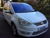 Ford Galaxy 2.0 tdci Titanium 64 reg fsh white 7 seater BUY FOR £48 PER WEEK