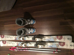 Rossignol skis with bindings, boots and poles
