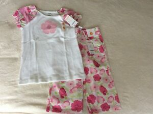New w/ Tags-Gymboree Size 7 Floral Top & Crop Pants