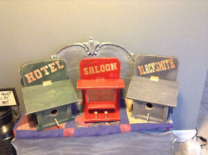Rustic Old West Themed Bird Houses & Feeders
