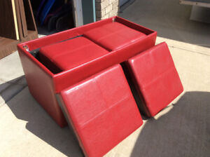 Storage Container and Stools
