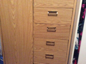 HEAVY WARDROBE WITH SHELVES/DRAWERS
