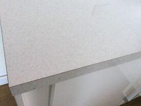 Astra white gloss worktop new
