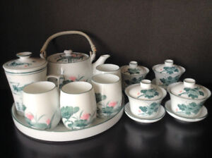 Fine China Teapot Set of 11 pieces