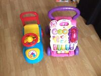 Baby walker fisher price and baby scooter