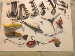 Vintage lures and hooks etc.