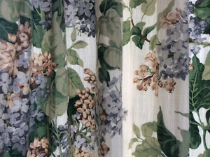 Sanderson lined curtains