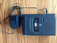GE Portable Recorder and Tape Player - working condition