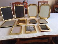Brass / Gold coloured Photo Frames