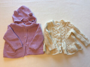 Gap set of two knitted Sweaters - Lavender & Cream (6-12 months)