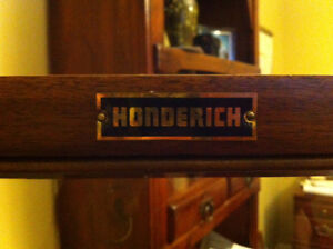 HONDERICH BOOKCASE OR CABINET UNDER GLASS GOOD SHAPE