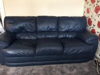 Leather 3 Seater Sofa - 2 available
