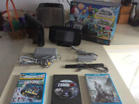 WiiU 320 gig deluxe A1-ZombiU-Nintendoland-Assassins Creed-280$