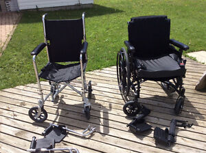 Wheelchair transport chair 2 walkers
