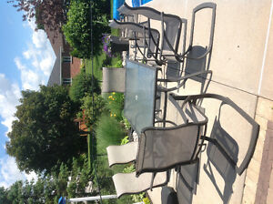 Patio table & chairs - set of 6