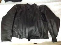 "Leather motorcycle jacket 44"""