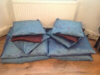 CURTAINS, FLOOR CUSHION, SOFA CUSHIONS, DECO PICTURES