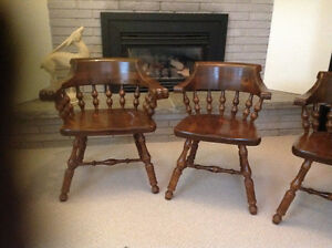 6 kilgour, solid pine dining room chairs Kingston Kingston Area image 1