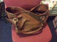 Women's brown handbag