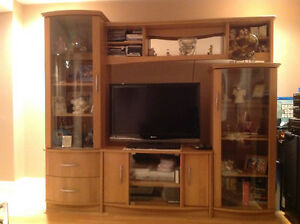 "Wall unit w/ Sharp 37"" Flat Screen TV"