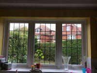 Upvc leaded light window 194cm x 113cm
