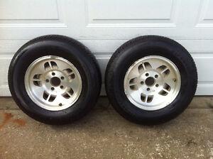 """2 - Ford Ranger / Explorer rims. 14"""" with Firestone tires"""