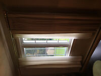 Living and dining rm matching window drapes