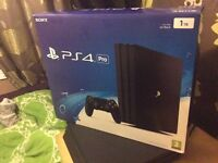 PS4 PRO 1tb v2 red controller boxed
